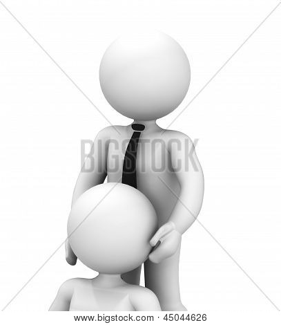 3D Abstract Couple