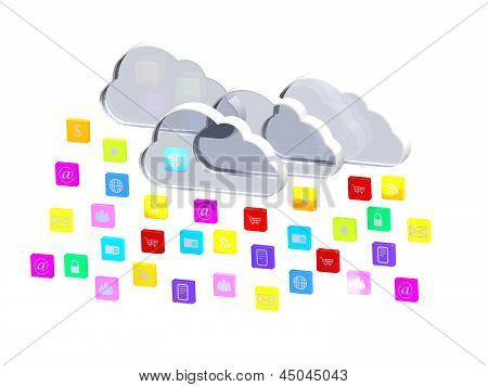 Cloud Of Application Icons