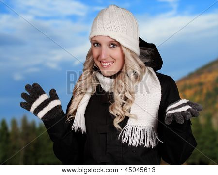 Young Woman With Outdoor Background