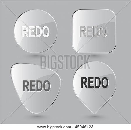 Redo. Glass buttons. Raster illustration.