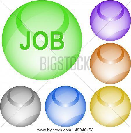 Job. Interface element. Raster illustration.