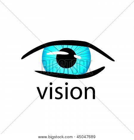 Graphic Vector creative design Eye Close Up