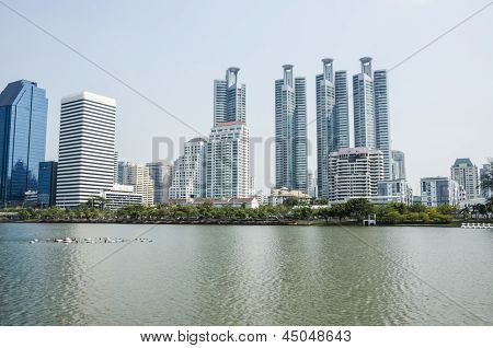 Skyscrapers Near The Water Front