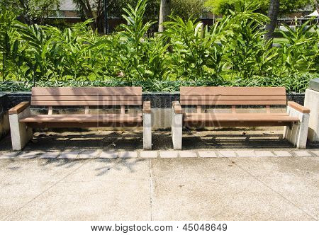 Contemporary Wood Bench