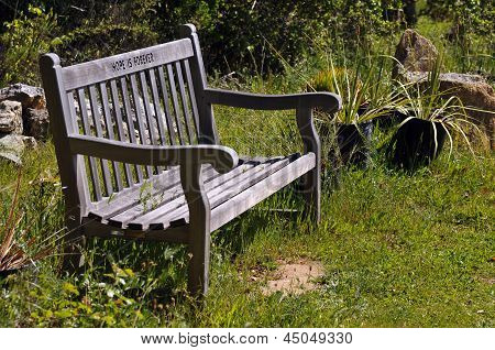 Hope Is Forever Outdoor Bench