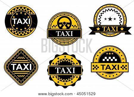 Taxi service symbols