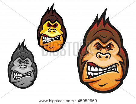 Angry monkey mascot