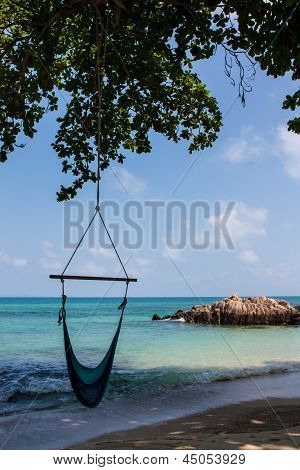 Sky Sea And Beach In Man Nok Island