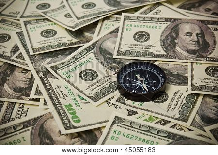 U.s. Dollar Currencies With A Compass