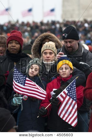 Children At Inaugural Celebration At Washington Monument