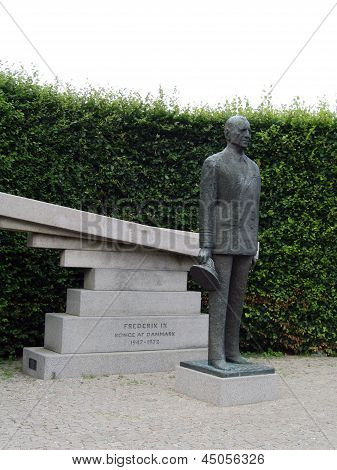 Statue of  the King Frederick IX in Copenhagen, Denmark