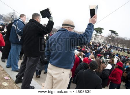 Bible-waving Evangelists