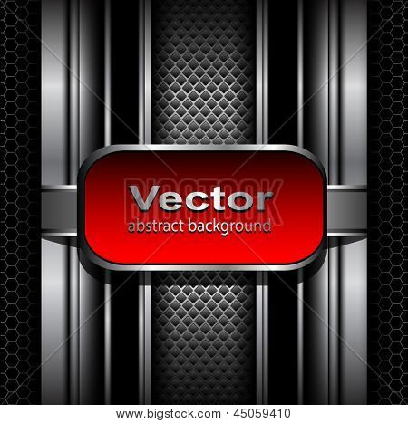 3D Background vector metallic.