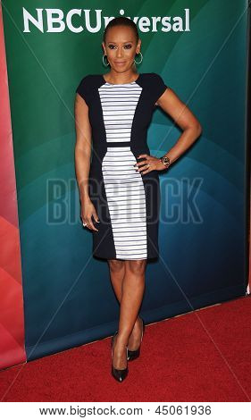 LOS ANGELES - APR 22:  Mel B arrives to the NBC Universal Summer Press Day 2013  on April 22, 2013 in Pasadena, CA.