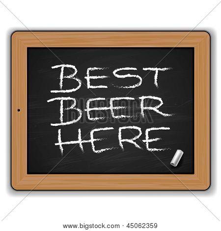 Menu - bieren op het bord