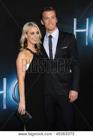 LOS ANGELES - MAR 19:  Jake Abel & Date arrives to the