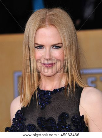 LOS ANGELES - JAN 27:  Nicole Kidman  arrives to the SAG Awards 2013  on January 27, 2013 in Los Angeles, CA