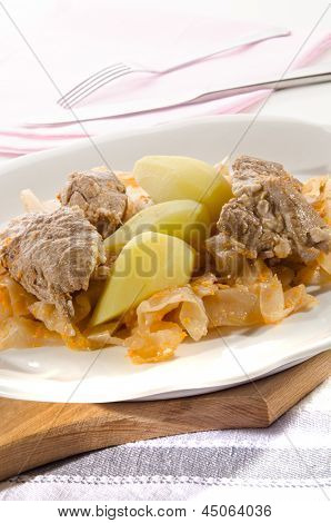 Szeged Goulash With Boiled Potatoes