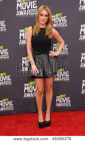 LOS ANGELES - APR 14:  Alexa Vega arrives to the Mtv Movie Awards 2013  on April 14, 2013 in Culver City, CA.