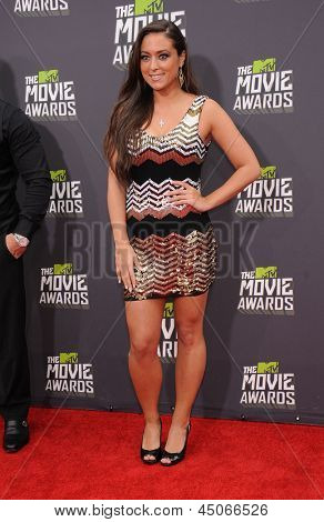 LOS ANGELES - APR 14:  Sammi Giancola arrives to the Mtv Movie Awards 2013  on April 14, 2013 in Culver City, CA.