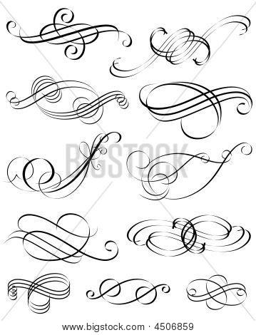 Kalligraphische Elemente