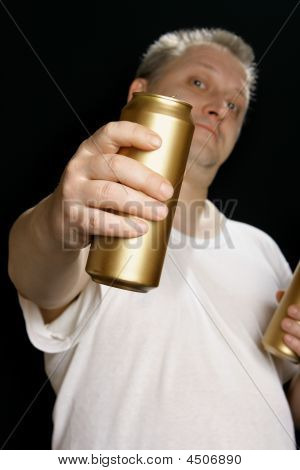 Man With Beer Can
