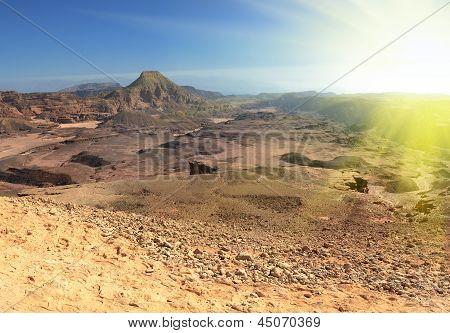 Sand Desert Under Sun