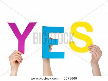 Letters Saying Yes