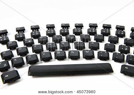 Ergonomic Black Keyboard