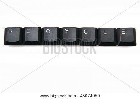Keyboard Keys - Recycle