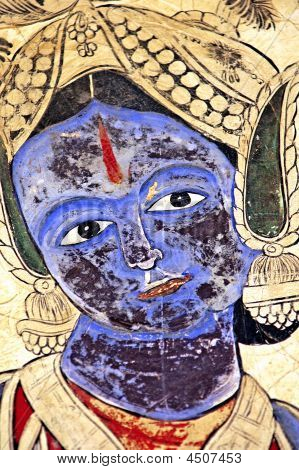 Indien, Mandawa: bunten Fresken