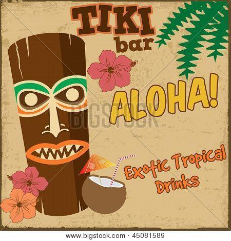 Tiki Bar Vintage Poster