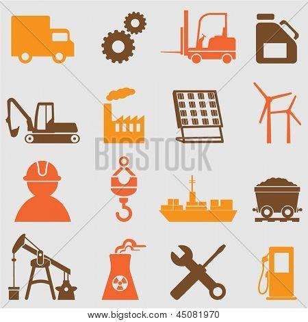 Conjunto de iconos de la industria.Vector
