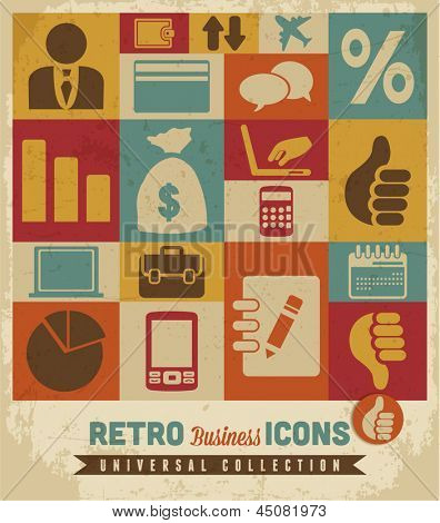 Business icons set:vector