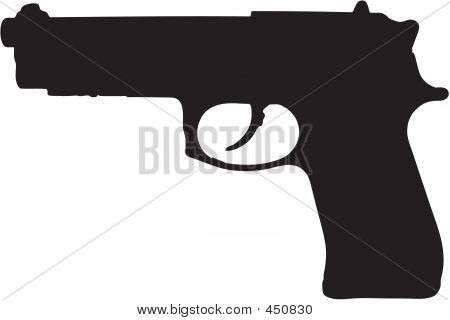 9mm Gun Illustration
