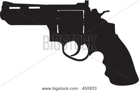 .45 Revolver / Gun Illustration