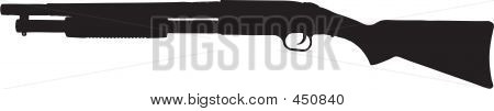 Pump Action Shotgun Illustration With Clipping Path
