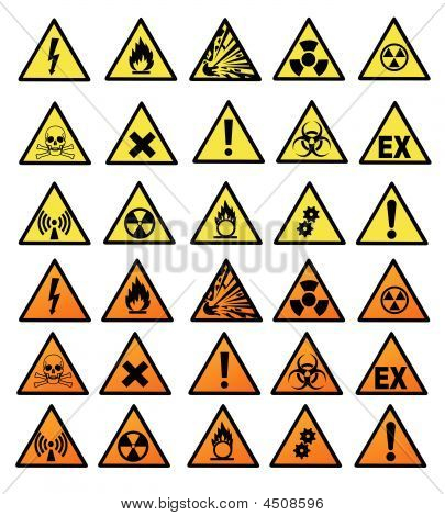 Chemical Hazard Signs Vector Illustration