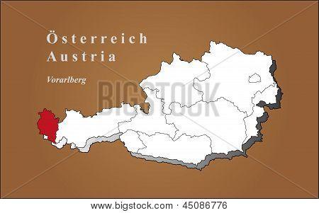 Austria Carinthia Highlighted