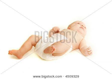 Bebé sobre blanco
