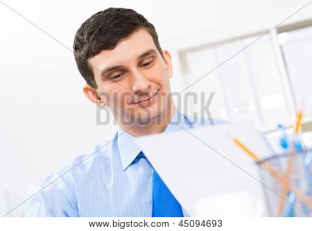 portrait of a businessman in the office
