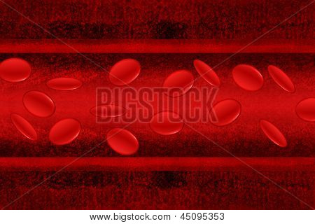 Stream Of Blood Cells