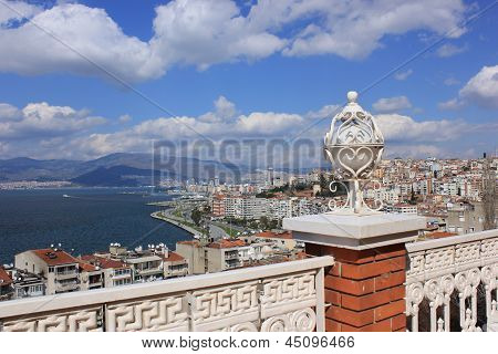 Lantern On Asansor Tower (elevator) And View Of Izmir