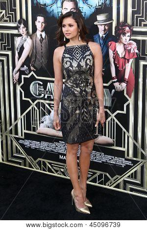 NEW YORK-NOV 18: Actress Nina Dobrev attends the premiere of