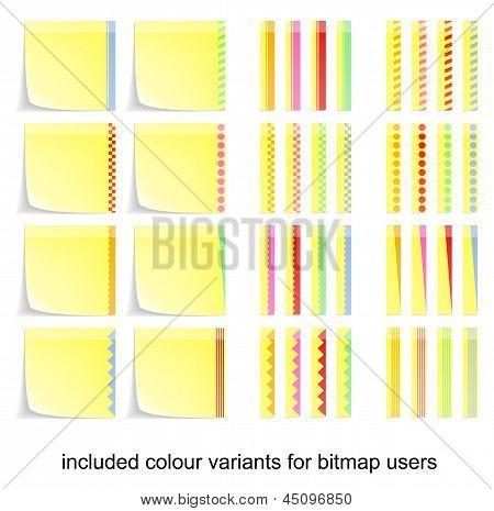adhesive postit labels