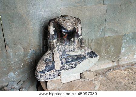 Headless Buddha Statue At Angkor Wat