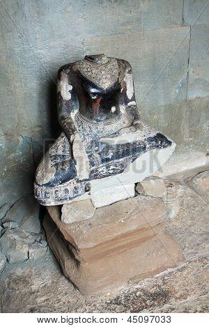 Headless Stone Buddha At Angkor Wat, Cambodia