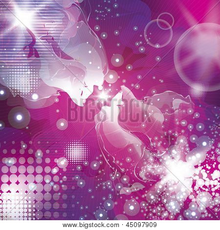Abstract Space Concept Background