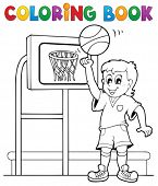 Coloring book sport and gym theme 3 - eps10 vector illustration.
