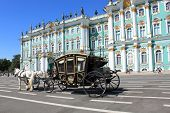 Converted Coach Near Hermitage Museum in St. Petersburg
